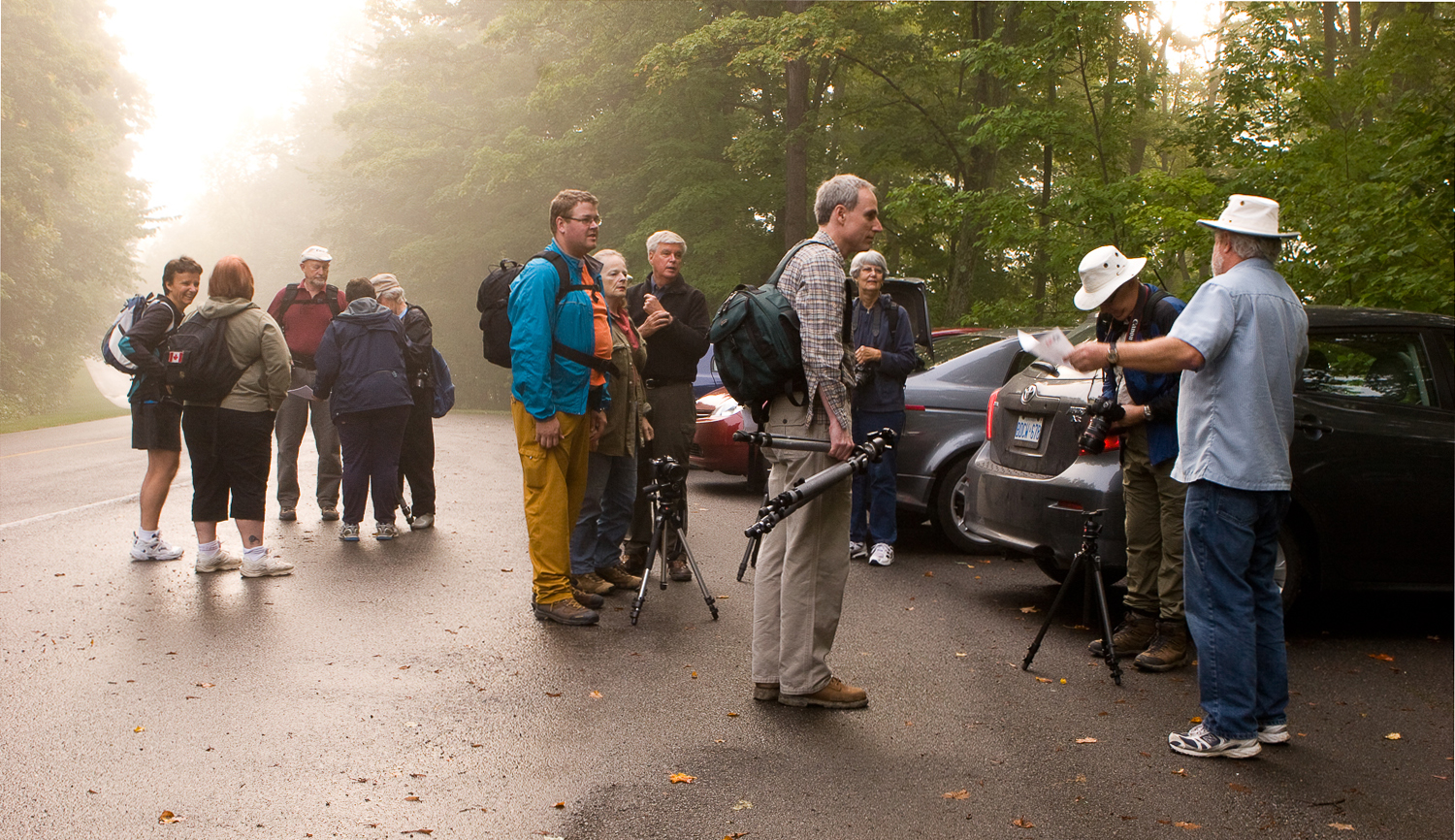 The Nature Group rallies for an early morning shoot. Pierre Gauthier photo