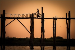 Crossing the U Bein Bridge